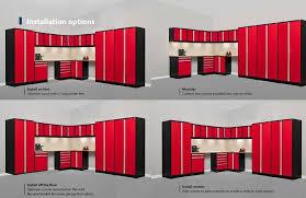 Garage Cabinet Set Pro 3 0 Series 15 Piece Corner Set Garage Storage Newage Products