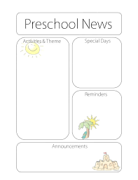free classroom weekly newsletter templates pikpaknews
