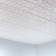 decor 2x2 ceiling tiles in gloss white with interior paint color