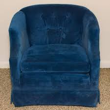 Ebth by Royal Blue Velvet Accent Chair By Stone Phillips Furniture Ebth
