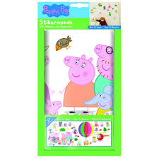 fun4walls peppa pig air balloon wall stickers stikarounds