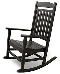 Patio Rocking Chair Terrace Ivr100bl Classics Rocker Chair Black
