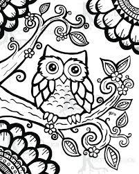 zen patterns coloring pages instant download coloring page cute owl inspired instant download