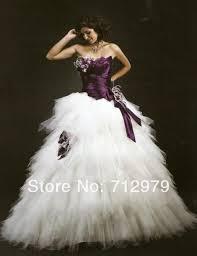 2015 new stylenew white and dark purple wedding dress bridal dress