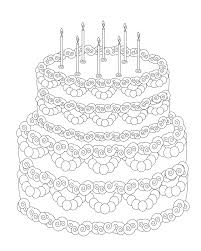 Birthday Cake Coloring Page Coloring Pages Wallpaper Birthday Cake Coloring Pages