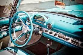 Classic Ford Truck Gifts - 1950s ford thunderbird classic car interior 50s car