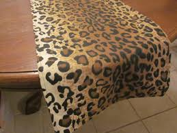 Cheetah Party Decorations Leopard Print Table Runner Safari Party Decorations Jungle