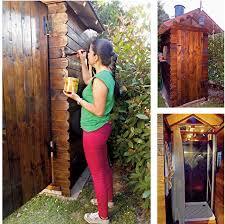 box doccia da esterno doccia da giardino fai da te rivestita in legno fai da te in