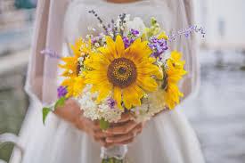 wedding flowers sunflowers 22 cheery sunflower wedding bouquets mon cheri bridals