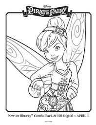 disney fairy coloring pages free tinker bell and the pirate fairy coloring pages picture 3