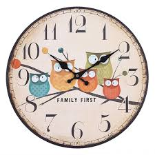 Shabby Chic Wall Clocks by Modern Design Owl Vintage Rustic Shabby Chic Wall Clock For Home