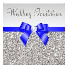 royal blue and silver wedding royal blue and silver wedding invitations