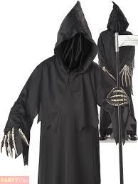 grim reaper costume childs deluxe grim reaper costume boys ghoul fancy dress
