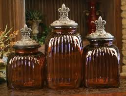 brown kitchen canisters glass kitchen canisters with ornate lids pretty glass kitchen