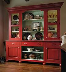 china cabinet european red country hutch home decorate shelves