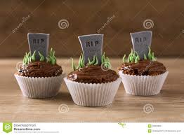 halloween rip cupcakes stock photo image 58003905