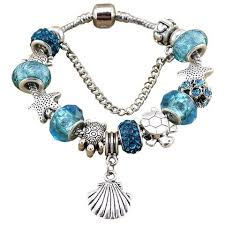 crystal bracelet charms images Blue turtle starfish crystal bracelet w charms sealife gifts jpg