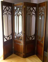 carved wood room divider pair of architectural light box room dividers for sale at 1stdibs