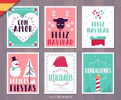 feliz navidad christmas card feliz navidad christmas card set vector