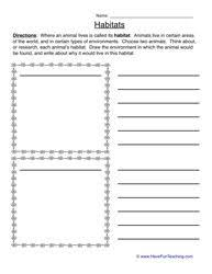 animal habitats worksheet animals pinterest