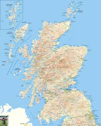 map of and scotland scotland offline map including scottish highlands galloway isle