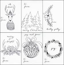 free printable christmas tags color