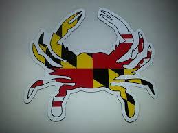 Maryland Flag Vinyl Amazon Com Maryland Flag Crab Magnet Kitchen U0026 Dining