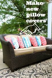diy outdoor pillow covers fabrics and crochet
