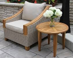 Wicker Accent Table 24