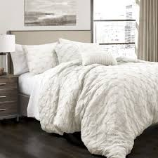 Dimensions Of A Queen Size Comforter Modern White Bedding Sets Allmodern