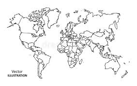 world map image drawing drawing world map with countries stock vector image 48404188