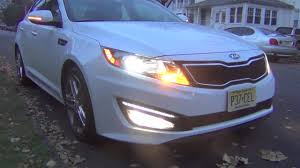 2013 kia optima led fog light bulb 2013 kia optima sxl limited lights youtube