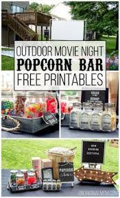 Backyard Movie Party Ideas by Printable Movie Night Birthday Party Package Decorations Movie