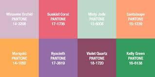 trending color palettes color trends