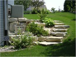 How To Landscape A Sloped Backyard - landscaping ideas front yard slope for small sloping gardens the