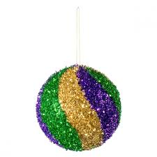 mardi gras ornaments 120mm tinsel swirl ornament mardi gras xj4308tc