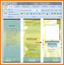 5 microsoft word brochure templates itinerary template sample