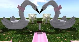 swan wedding second marketplace swan wedding alter build