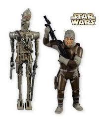 boba fett has capture han is this two miniature ornament set