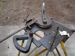 ub 04 manual dobladora de caños de pie manual casera usada 19mm metals