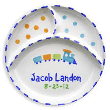 personalized birth plates different objects for the picture been specially selected to