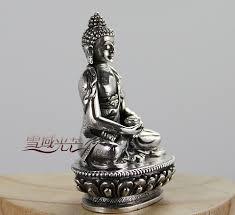 handmade tibetan sterling silver amitabha buddha statue