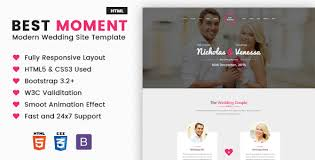 wedding site best moments mordern wedding site template by 3jon themeforest
