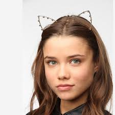 cat headband outfitters accessories outfitters gold rhinestone
