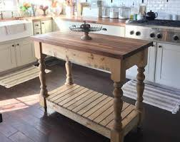 farmhouse kitchen island butcherblock etsy