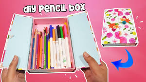 pencil box how to make pencil box for back to school diy pencil
