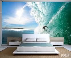 Wall Murals Bedroom by Fresh Summer Decorating Trend Surf Themed Wall Murals In Bedrooms