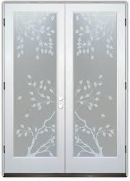 Decorative Glass Doors Interior Cherry Tree Interior Etched Glass Doors
