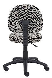 com boss office s b325 zb perfect posture delux microfiber task chair without arms in zebra kitchen dining