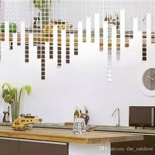 Mirror Decals Home Decor | wall stickers home décor square crystal mirror wall decals
